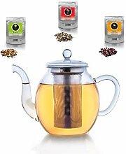 Creano Glas-Teekanne 3-Teiliger Teebereiter mit