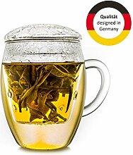 Creano Teeglas All in one, Große Teetasse mit
