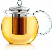 Creano Teekanne aus Glas 0,85l, 3-Teilige