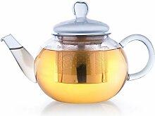 Creano Teekanne aus Glas 0,8l, 3-Teilige