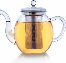 Creano Teekanne aus Glas 1,0l, 3-Teilige
