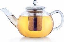 Creano Teekanne aus Glas 1,2l, 3-Teilige