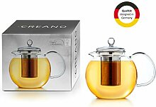 Creano Teekanne aus Glas 1,3l, 3-Teilige