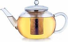 Creano Teekanne aus Glas 1,6l, 3-Teilige