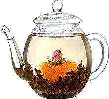 Creano Teekanne aus Glas mit Deckel für 500ml Tee