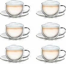 Creano Thermo-Tasse doppelwandige Tee-/Latte