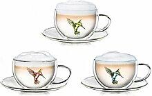 Creano Thermo-Tasse Hummi doppelwandige Tee-/Latte
