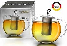 Creano XXL Teekanne Jumbo aus Glas, 3-teilige