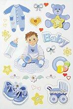 Creapop Sticker * Baby Boy - Taufe - Geburt *