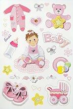 Creapop Sticker * Baby Girl - Taufe - Geburt *
