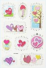 Creapop Sticker * Herzen II Valentinstag *