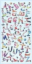 Creapop Sticker Softysticker * Clown Buchstaben -
