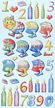 Creapop Sticker Softysticker * Happy Bithday Raupe