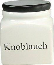 Creatable 14676 Serie Texte, Vorratsdose Knoblauch, Porzellan, weiß