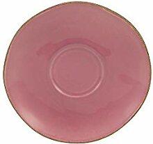 Steingut Unterta rosé 10er SET CreaTable 22123 PINK LADY Kaffeeuntere 15 cm