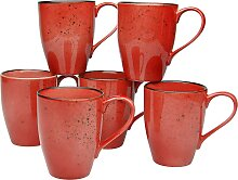 CreaTable Becher NATURE COLLECTION, (Set, 6 tlg.),