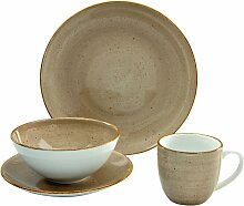 CreaTable Single Geschirr-Set VINTAGE NATURE