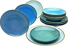 CreaTable Tafelservice NATURE COLLECTION Aqua