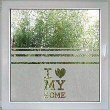 Create&Wall - Fenstertattoo I Love my Home