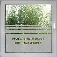Create&Wall - Fenstertattoo Möge die Macht mit