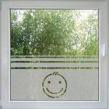 Create&Wall - Fenstertattoo Smiley