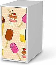 creatisto Dekosticker für IKEA Alex Schreibtisch-Schrank   Dekorfolien Möbel-Folie Sticker Möbel-Tattoo   Zimmer umgestalten Einrichtungsideen   Design Motiv Popsicle