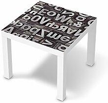 creatisto Dekosticker für IKEA Lack Tisch 55x55 cm   Muster Möbel-Aufkleber Folie Möbelfolie selbstklebend   Möbel aufpeppen Wohn Deko Ideen   Design Motiv Alphabe