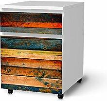 creatisto Dekosticker für IKEA Malm Schubladenelement auf Rollen   Muster Möbel-Aufkleber Folie Möbelfolie selbstklebend   Möbel aufpeppen Wohn Deko Ideen   Muster Ornament Wooden