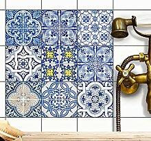 creatisto Fliesen-Aufkleber Fliesenfolie u. Fliesensticker   Dekosticker Badezimmer-Fliesen Küchen-Fliesen selbstklebend - Fliesen renovieren o. Fliesenfarbe   15x15 cm - Motiv Klassisch - 27 Stück