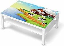 creatisto Folie Kindermöbel für IKEA Lack Tisch 118x78 cm   Möbel-Sticker Folie Deko   Ideen für IKEA Möbel für Kinder-Zimmer Wohndeko   Kids Kinder Cowfarm 2