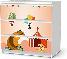 creatisto Kindermöbel Klebefolie für IKEA Malm 3 Schubladen   Möbel-Sticker Folie Designfolie   Wohnideen IKEA Möbelfolie Kinder-Zimmer Wohnaccessoires   Kids Kinder Bärenstark
