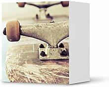 creatisto Möbel-Aufkleber IKEA Besta Regal 1 Tür Element/Design Sticker Skateboard/selbstklebende Dekoration