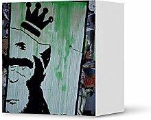 creatisto Möbel-Aufkleber IKEA Besta Regal 1 Tür Element/Design Sticker Crowned Ape/selbstklebende Dekoration