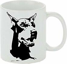 Creativ Deluxe Kaffeebecher Dobermann Kaffeetasse,