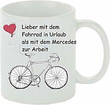 Creativ Deluxe Kaffeebecher Lieber mit dem Fahrrad