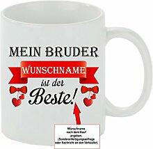 Creativ Deluxe Kaffeebecher Mein Bruder Wunschname