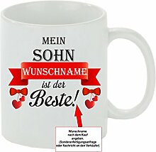 Creativ Deluxe Kaffeebecher Mein Sohn Wunschname