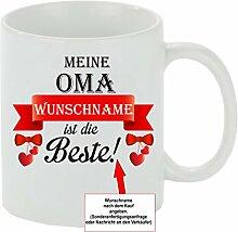 Creativ Deluxe Kaffeebecher Meine Oma Wunschname