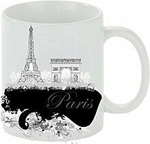 Creativ Deluxe Kaffeebecher Paris Kaffeetasse,
