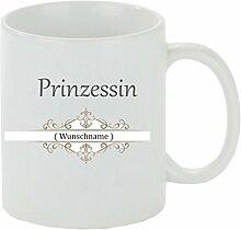 Creativ Deluxe Kaffeebecher Prinzessin Wunschname