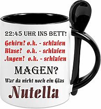 Creativ Deluxe Kaffeetasse m. Löffel Nutella -