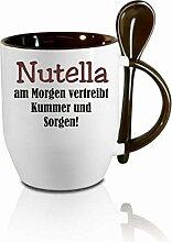 Creativ Deluxe Tasse m. Löffel Nutella am Morgen