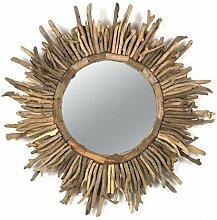 Creative beeinflußt rund Treibholz Sun Burst Spiegel