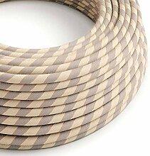 creative cables Rundes, Vertigo-Textilkabel aus