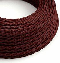 creative cables Textilkabel geflochten, Bordeaux