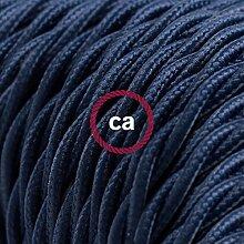 creative cables Textilkabel geflochten, dunkelblau