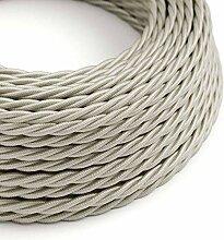 creative cables Textilkabel geflochten, Elfenbein