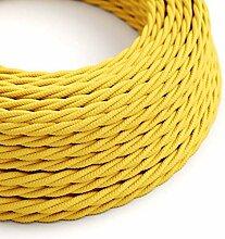 creative cables Textilkabel geflochten, gelb mit
