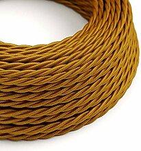 creative cables Textilkabel geflochten, Gold mit