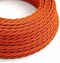 creative cables Textilkabel geflochten, orange mit